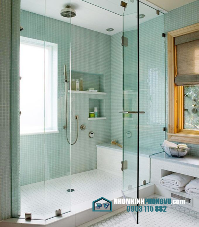 Vách ngăn kính cường lực phòng tắm/ nhà tắm