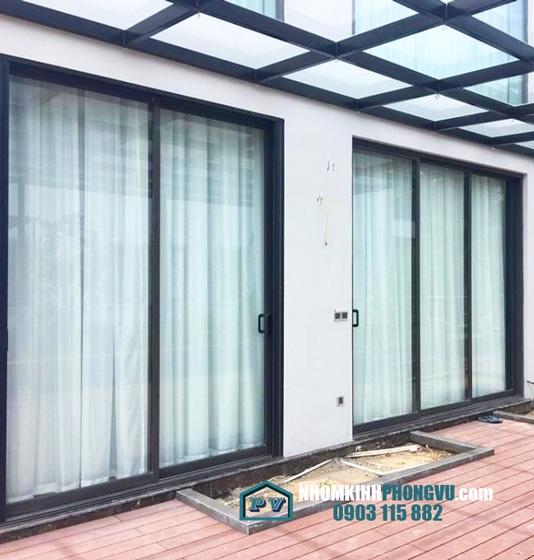Thi công cửa lùa nhôm kính cho nhà anh Bình, Phường An Phú, Quận 2, TPHCM