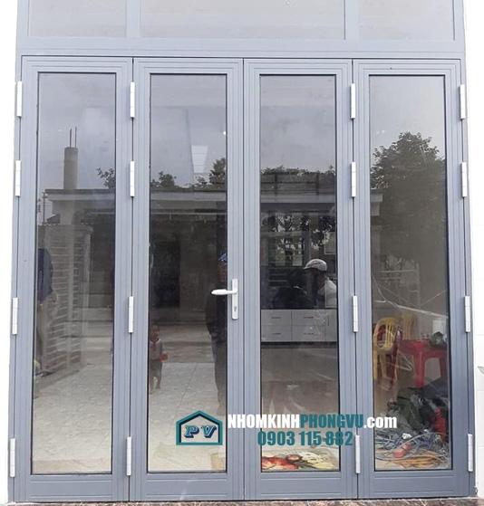 Làm cửa nhôm kính 4 cánh cho nhà anh Toàn, KDC Hưng Phú, Phường Hiệp Bình Chánh, Thủ Đức, TPHCM