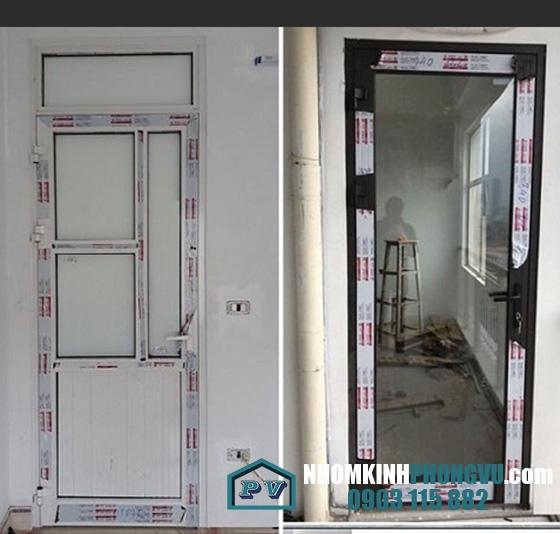 Lắp đặt cửa nhôm xingfa 1 cánh cho nhà anh Sửu tại Tân Thới Nhất, Quận 12, TPHCM