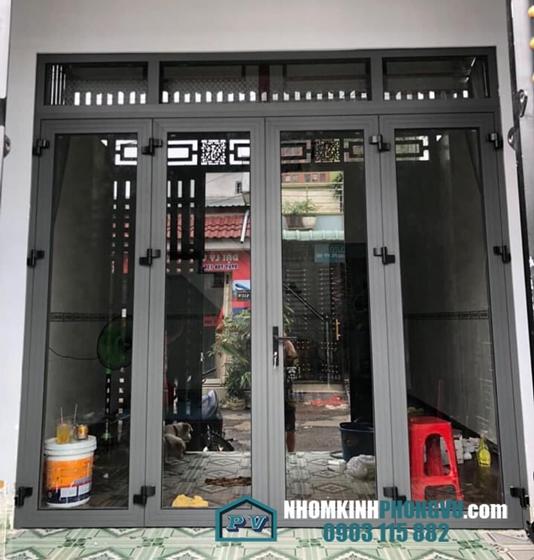 Lắp đặt cửa nhôm xingfa 4 cánh nhà chị Mai, Nguyễn Thị Tú, Bình Hưng Hòa B, Bình Tân