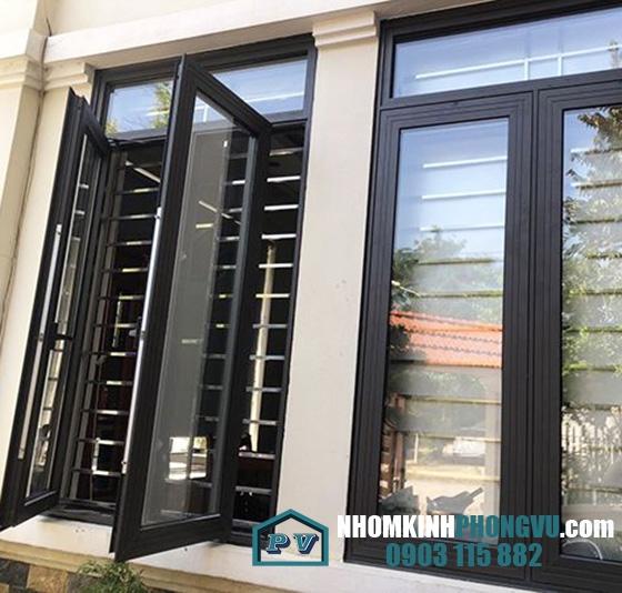 Mẫu cửa sổ nhôm xingfa nhập khẩu Quảng Đông mở chữ A khóa đa điểm tiện lợi