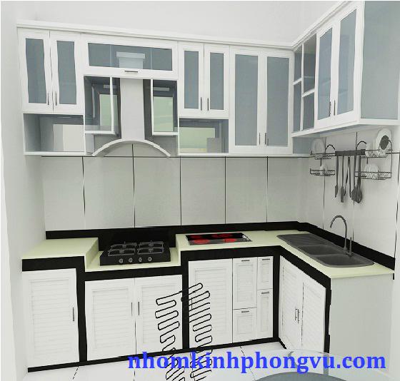 Tủ bếp nhôm kính TBNK03