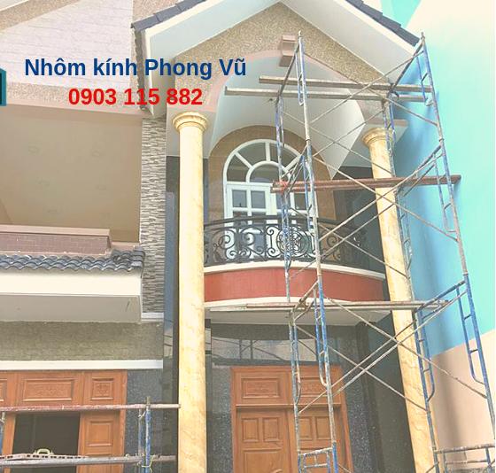 Thi công cửa nhôm kính nhà anh Miên, KDC Vạn Phúc, Quận Thủ Đức,TPHCM