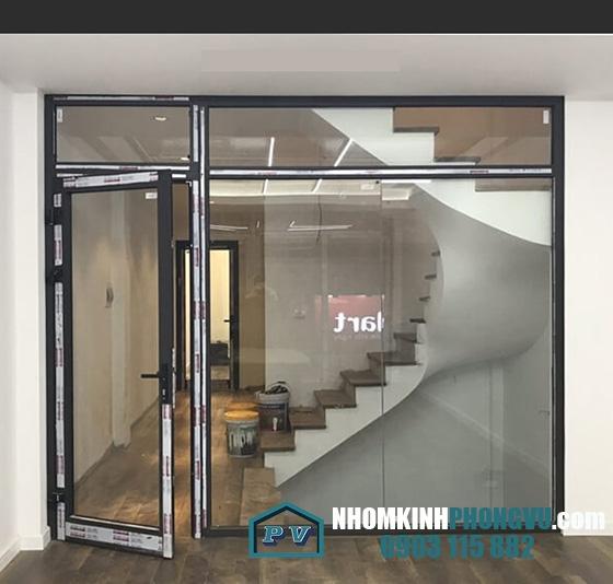 Lắp đặt cửa, vách nhôm xingfa tại công ty Nam Á  Bà Điểm, Hóc Môn, TPHCM
