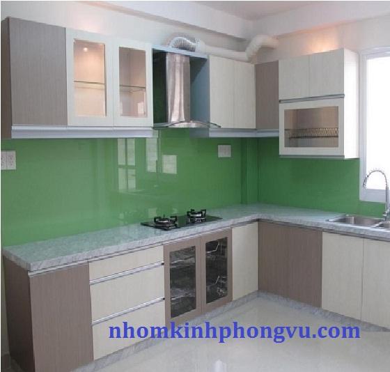 Tủ bếp nhôm kính TBNK01