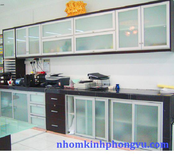 Tủ bếp nhôm kính TBNK07