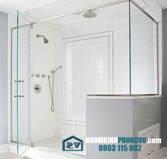 Mẫu vách kính, cửa kính cường lực phòng tắm, nhà tắm đẹp