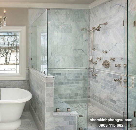 Mẫu vách tắm kính cường lực đẹp cho ngôi nhà đầy thời thượng